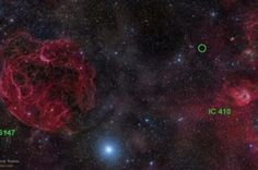 Strange Radio Signals from 9 billion light years from Earth  Mystify Astronomers. Photo credit:Rogelio Bernal Andreo (DeepSkyColors.com). The area of the sky in which the Arecibo Fast Radio Burst was detected is circled. The nearby supernova remnant and star formation region are coincidental, with the burst coming from much greater distances Read more at http://www.iflscience.com/space/strange-radio-signals-mystify-astronomers#5FH7fUvleL6iwzyk.99