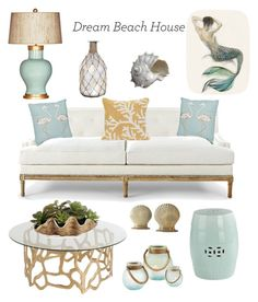 """""""Untitled #1"""" by deborah-fredericks on Polyvore featuring interior, interiors, interior design, home, home decor, interior decorating, Barclay Butera, Liora Manné, Two's Company and Oly"""
