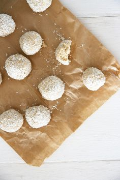 No Bake Coconut Dog Treats - take less than 5 minutes to make and are super healthy!