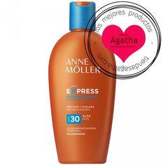 Anne Möller bronceador cuerpo express leche spf 30 200 ml: Leche bronceador que acelera el proceso natural del bronceador de la piel. Dejándola tersa y suave. SPF 30.