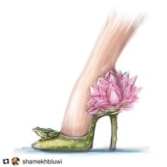 Water Lily Heels by Shamekh Bluwi Fashion Illustration Shoes, Muses Shoes, Shoe Sketches, Creative Shoes, Flower Shoes, Fashion Design Sketches, Shoe Art, Fashion Art, Artist Fashion