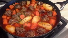 Tried and True Meatball Stew // My cousin's recipe :)