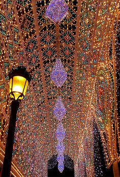 The Falles is a traditional celebration held in commemoration of Saint Joseph in the city of Valencia, in Spain. Las luces en Fallas by Angel Salom