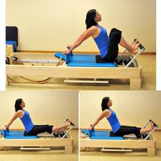 Photo Reference for Beginner Pilates Reformer Workout