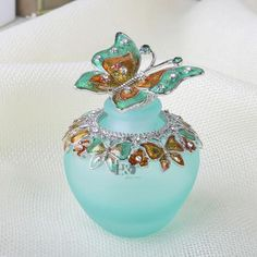 Antique Style Colorful Lampwork Empty Refillable Perfume Bottle (15 Styles)