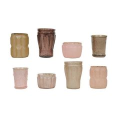 Serafina Tealight Holders in Pinks and Plums - Set of 8