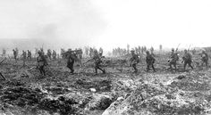 British soldiers on Vimy Ridge, 1917. British and Canadian forces pushed through German defenses at the Battle of Vimy Ridge in April of 191...