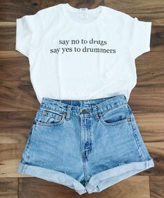 no to drugs yes to drummers t-shirt © by MXLoutfitters on Etsy