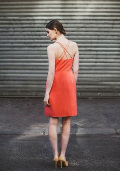 Short dress with double crossover straps - Spring-Summer 2015 collection -