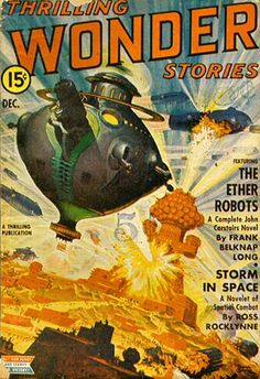 RUDOLPH BELARSKI - Storm in Space by Ross Rocklynne - Dec 1942 Thrilling Wonder Stories