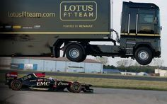 EMC and the Lotus F1 Team have joined forces to achieve the spectacular, jumping a semi truck over a moving F1 car. In this technology demonstration and world record attempt EMC prove that their trucks can get serious amounts of air, and keep on rolling. With the record for jump distance reset to 83 feet …