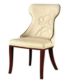 This Cream Elite Leather Dining Chair - Set of Two by International Design is perfect! #zulilyfinds