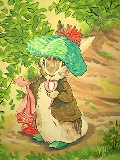 Benjamin Bunny, was a very naughty bunny indeed. He would get his cousin Peter into all sorts of problems.