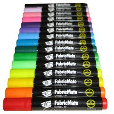 FabricMate Permanent Chisel Tip Fabric Pens