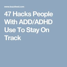 Everything from color-coding to bouncing on an exercise ball. Adhd Help, Adhd Strategies, I Heart Organizing, Adhd And Autism, Adhd Kids, Adult Adhd, Stay On Track, Write It Down, Aspergers