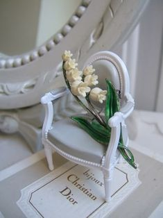 Dior Lily of the Valley - jewellery brooch