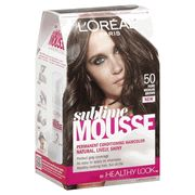L Oreal Paris Sublime Mousse By Healthy Look Hair Color 50 Pure Medium Brown