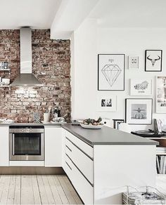 I like the white art on the white walls.