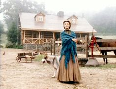 Dr. Quinn Medicine Woman - Dr Mike in front of homestead Sully built for her and children
