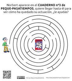 Peque-pasatiempos: Laberinto de Norbert - PEQUE-PASATIEMPOS nº50