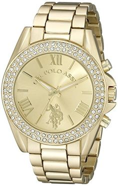U.S. Polo Assn. Women's USC40036 Analog Display Analog Quartz Gold Watch - Jewelry For Her