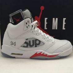 DS Nike Air Jordan 5 V Retro x Supreme White Size 11