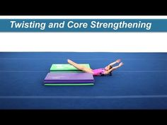 Twisting and Core Strengthening Backward twisting can be difficult for some athletes with many twisting too early coming off the ground, or getting too loose. Acro, Training Tips, Core Strengthening, Gymnastics, Flexibility, Athlete, Youtube, Spirit, Fitness