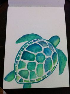 Watercolor Turtle... I'd love this as a tattoo