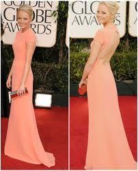 Emma Stone Golden Globes 2011 wearing Calvin Klein #emmastone #ck