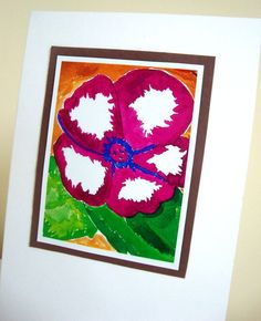 Violet Flower Art Print White Eco Friendly by ChanelledCreations, $4.50
