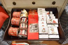 Note cards, gifts bags and holiday ribbon. We are ready to start holiday shopping! // Kellogg Collection