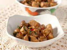 Stir-fry Chicken with Ginger & Scallions