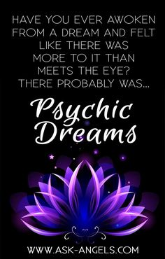 Psychic Dreams.- Everyone dreams! This is true whether you currently remember your dreams, or not! As you may already know, it is your subconscious mind that guides you as you enter into the REM (rapid eye movement) phase of sleep… This is the deepest level of dreaming. Research shows that your brain is far more active during sleep than in waking hours. If you've ever struggled to silence your mind from the anxiety, stress, and worry of your thoughts, just imagine all that must be going on…