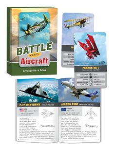 Battle cards Aircraft (card game and book) - This would be a great gift for G
