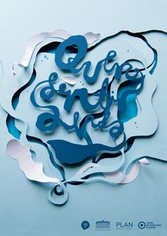 Hand-crafted paper typography by Owen Gildersleeve | Art & Design | Lifelounge