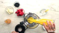 Peach smoothie recipe, made with the Cuisinart VELOCITY 600 Watt Blender (SPB-8)