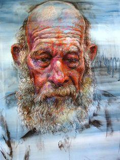 "Saatchi Art Artist: David Newman-White; Pastel 2012 Drawing ""'The Old Jackeroo'"""