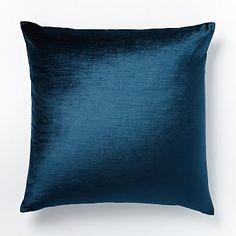 West Elm Luster Velvet Pillow Cover in Regal Blue $34 #westelm