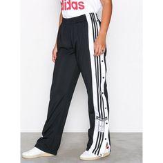 Adidas Originals Adibreak Pant ($89) ❤ liked on Polyvore featuring pants, black, pants & shorts, womens-fashion, adidas originals, striped drawstring pants, stripe pants, zipper pants and button pants