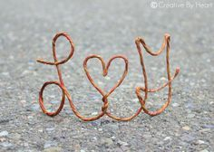 copper letter cake toppers - Google Search
