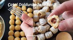 Catal Doldurdu Tatli Tarifi 1 Eggs, Cookies, Vegetables, Breakfast, Food, Sweets, Recipies, Crack Crackers, Morning Coffee