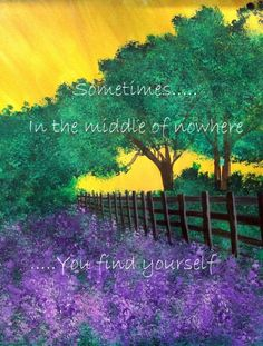 """Nature Art - """"Sometimes in the Middle of Nowhere"""" - Painting by Lorraine Skala - Visit by Etsy Shop for notecards and prints"""