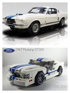 https://flic.kr/p/rLafLQ | 1967 Ford Mustang GT350 - a modified version of my mustang builds. Was thinking og doing an Eleanor, but ended up with a classic white with blue racing stripes.