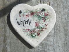 Welcome Heart Decor Salt Dough Ornament by cookiedoughcreations, $5.95