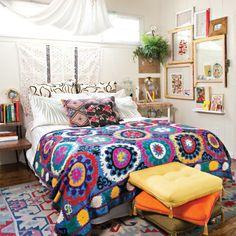Justina's Global + Bohemian Bedroom