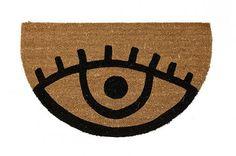 door mats   designlovefest - eye see you doormat