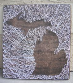 Inverted State String Art  MADE TO ORDER by CountryRusticDesigns