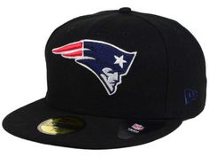 online retailer 59a1f 68ac7 New England Patriots New Era NFL Black Team 59FIFTY Cap