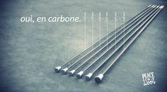 aiguilles à tricoter en carbone