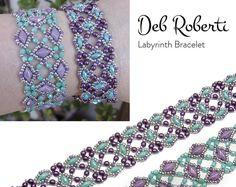 Labyrinth Bracelet beaded pattern tutorial by Deb Roberti
